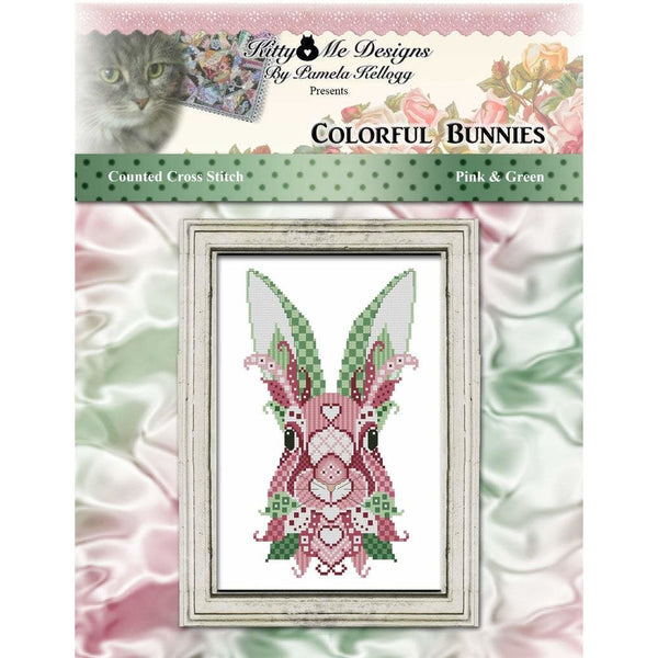 Colorful Bunnies - Pink & Green Pattern