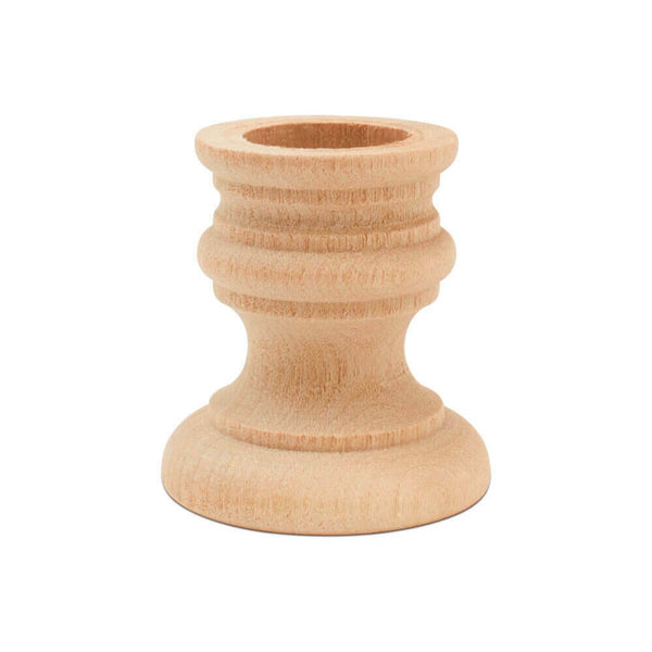 "1 7/8"" Wooden Candlestick Holder"