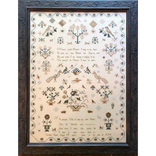 Caroline Sayer 1834 Reproduction Sampler Pattern