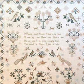 Caroline Sayer 1834 Sampler Cross Stitch Pattern