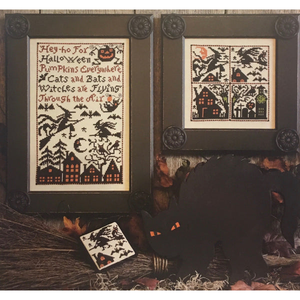 Cats, Bats & Witches Pattern - Original Cardstock