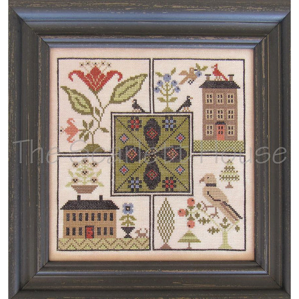 Center Point Sampler Cross Stitch Pattern