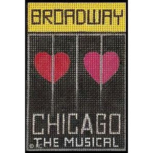 Chicago The Musical Broadway Playbill Needlepoint Canvas