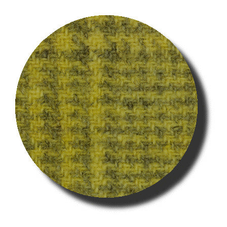Lemon Chiffon Glen Plaid Wool