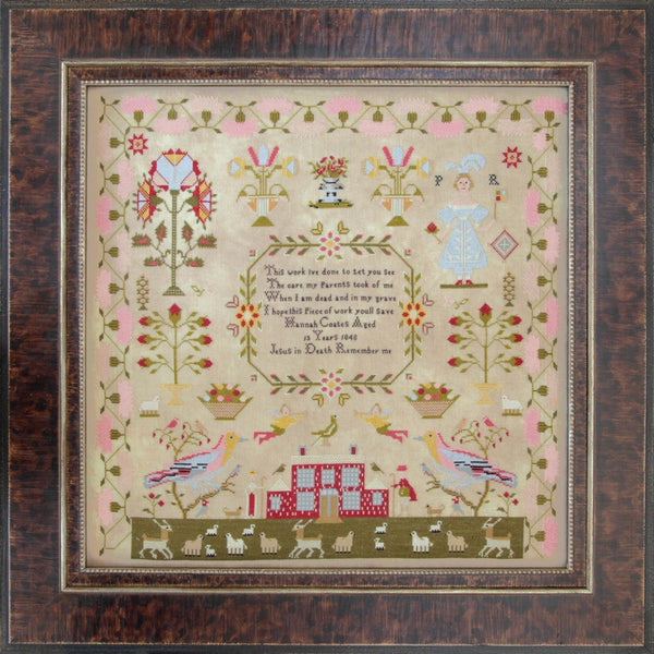 Hannah Coates 1848 Reproduction Sampler Pattern