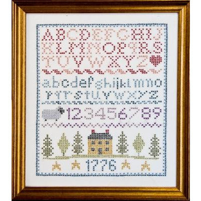 Colonial Sampler Stamped Cross Stitch Kit