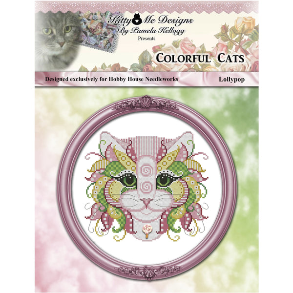 Colorful Cats - Lollypop Pattern Hobby House Needleworks Exclusive