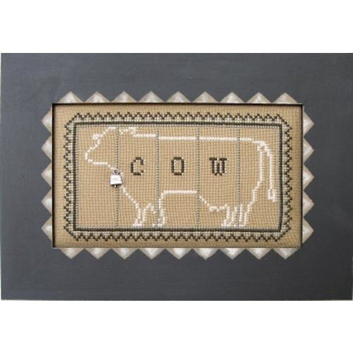Charmed Block: Cow Cross Stitch Pattern