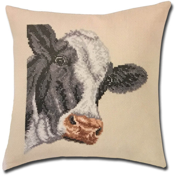 Cow Pillow Cross Stitch Kit
