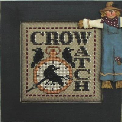 Word Play: Crow Watch Cross Stitch Pattern w/Charm