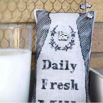 Daily Fresh Milk Cross Stitch Pattern
