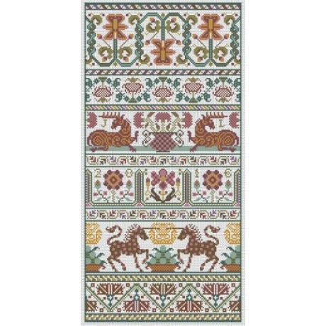 Dankworth Long Dog Samplers Cross Stitch Pattern