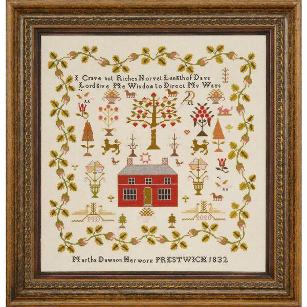 Little Gems Series - Martha Dawson 1832 Sampler Paper Pattern
