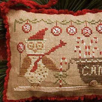 Delivering Peppermints & Candy Canes Cross Stitch Pattern