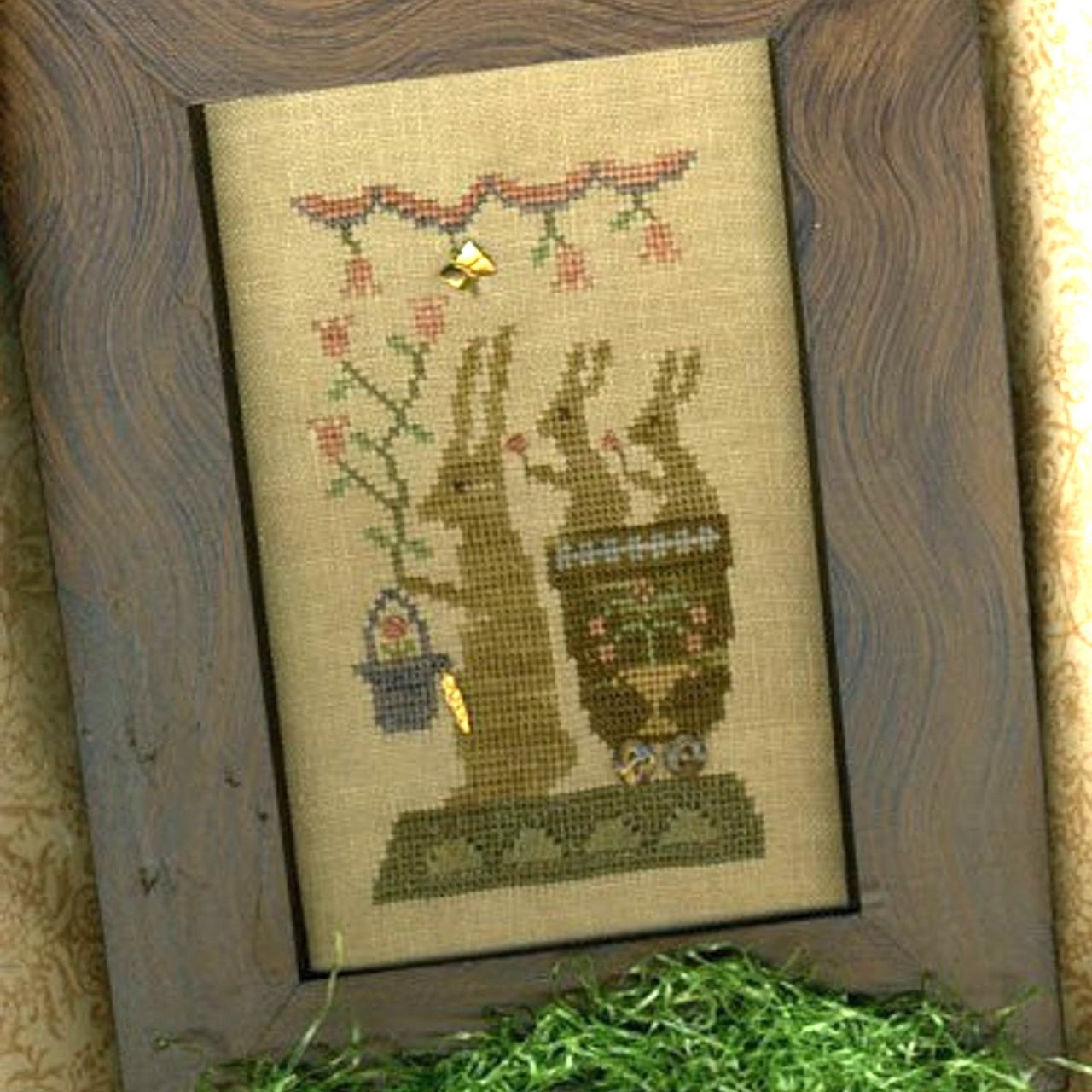 Delivering Spring Blossoms Cross Stitch Pattern
