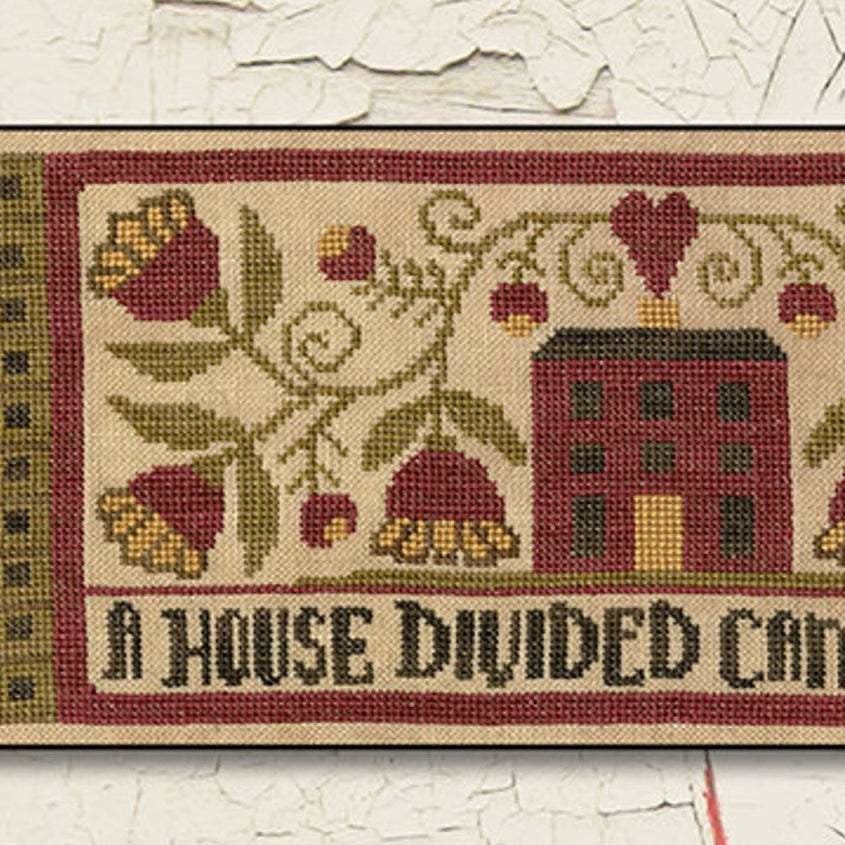 A House Divided Cross Stitch Pattern