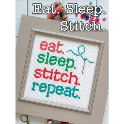 Eat. Sleep. Stitch. Pattern