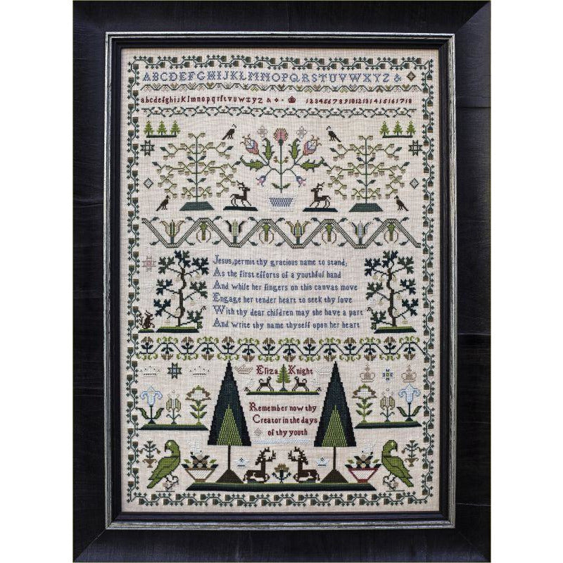 Eliza Knight 1820 Reproduction Sampler Pattern