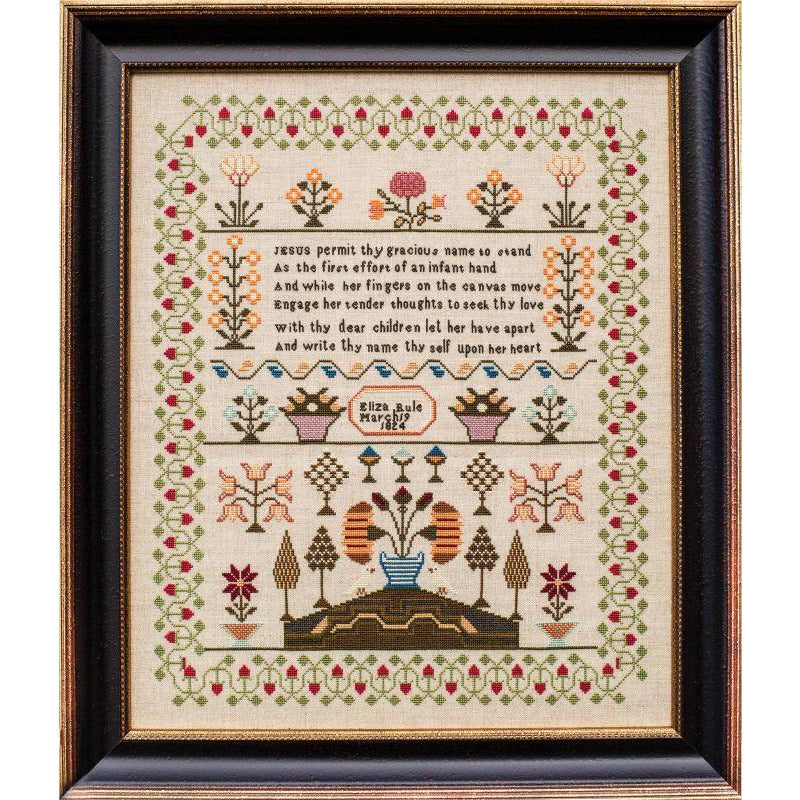 Eliza Rule 1824 Reproduction Sampler Pattern