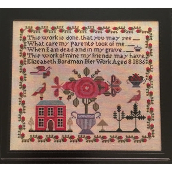 Elizeabeth Bordman 1836 Sampler Cross Stitch Pattern