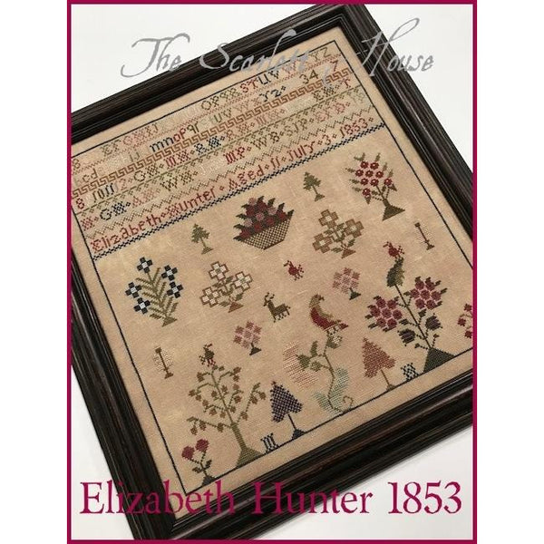 Elizabeth Hunter 1853 Sampler Cross Stitch Pattern