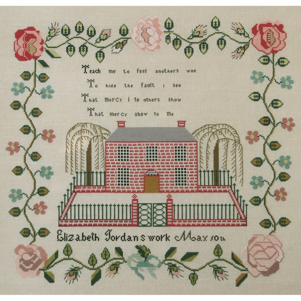 Elizabeth Jordan 1841 Sampler Cross Stitch Pattern