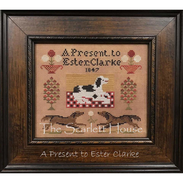 A Present to Ester Clarke Cross Stitch Pattern
