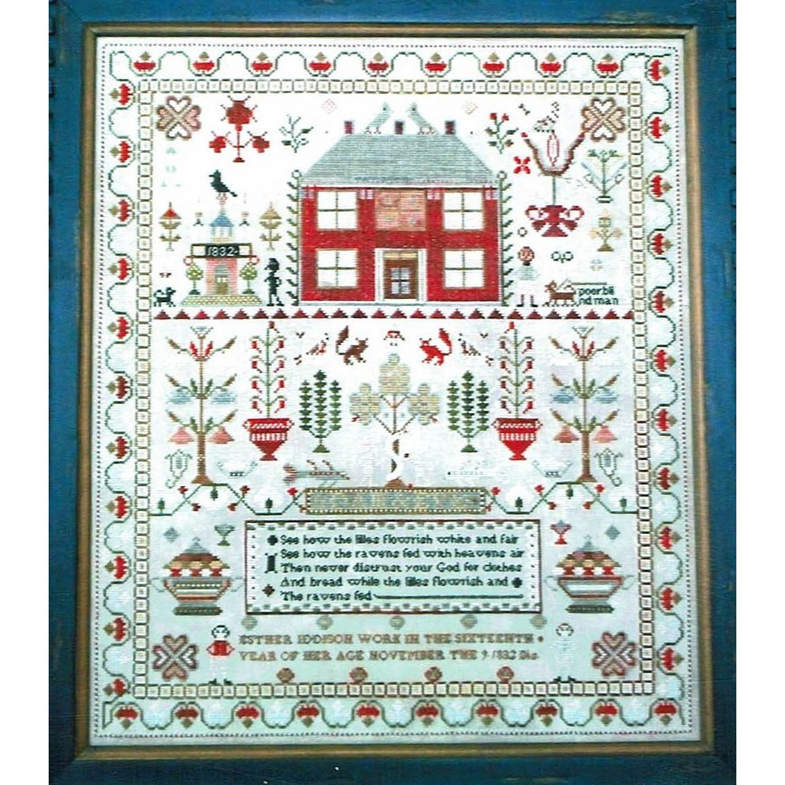 Esther Iddison 1832 Reproduction Sampler Pattern