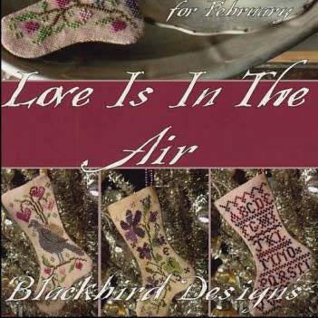 February Love is in the Air Stockings Cross Stitch Pattern