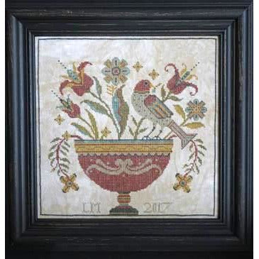 Fraktur Flowers Cross Stitch Pattern