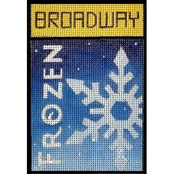 Frozen Broadway Playbill Needlepoint Canvas