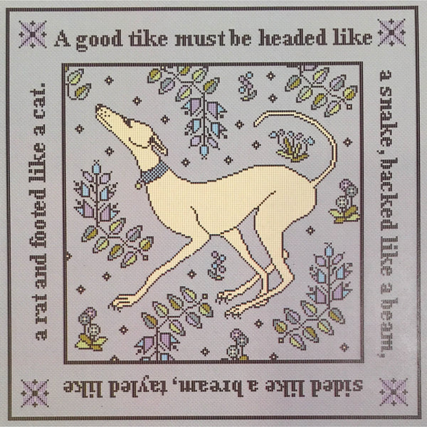 A Good Tike Long Dog Samplers Cross Stitch Pattern