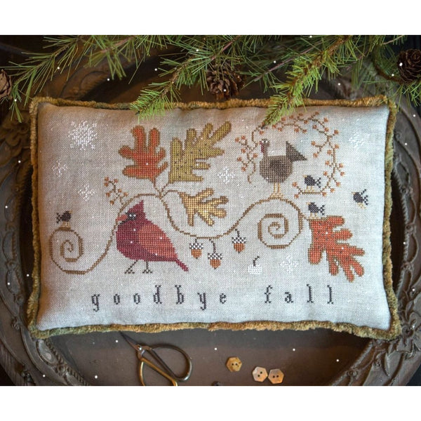 Goodbye Fall Cross Stitch Pattern