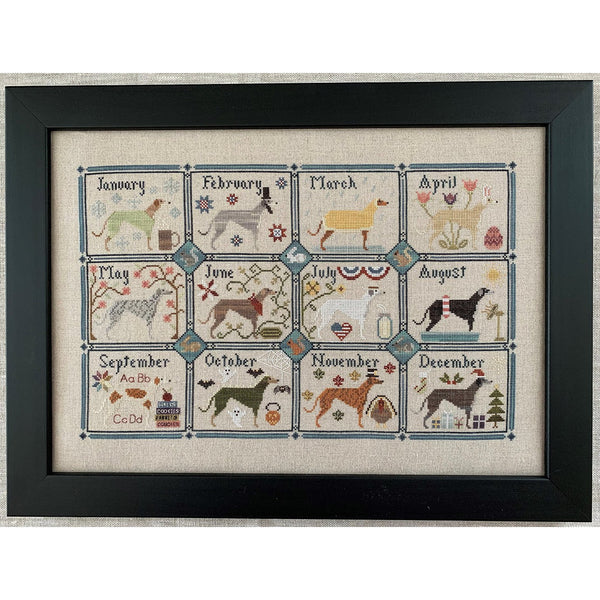 A Greyhound Year Cross Stitch Pattern