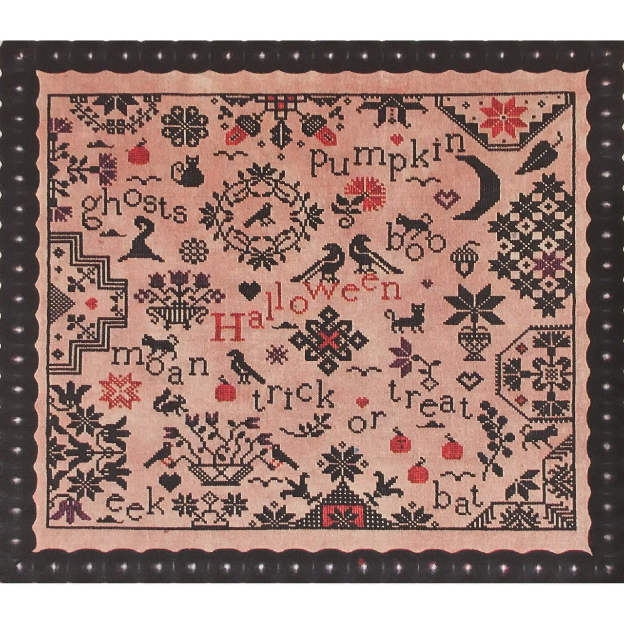 Simple Gifts Halloween Quaker Sampler Cross Stitch Pattern
