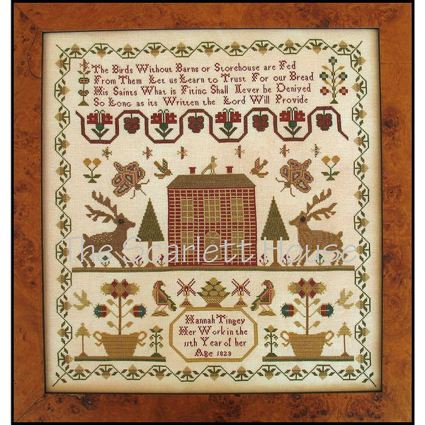 Hannah Tingey 1823 Reproduction Sampler Cross Stitch Pattern
