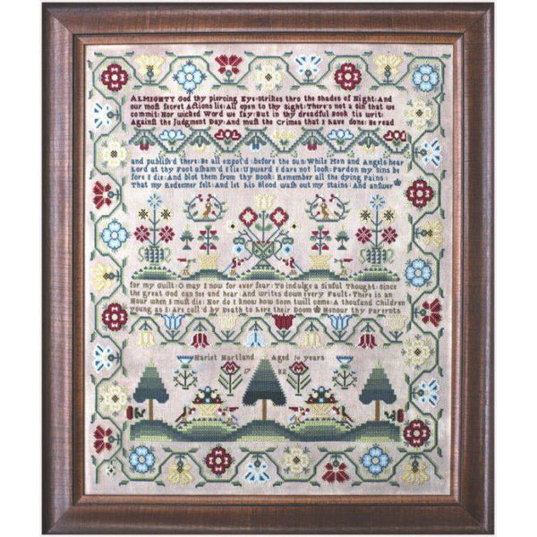 Hariet Hartland 1782 Reproduction Sampler Pattern