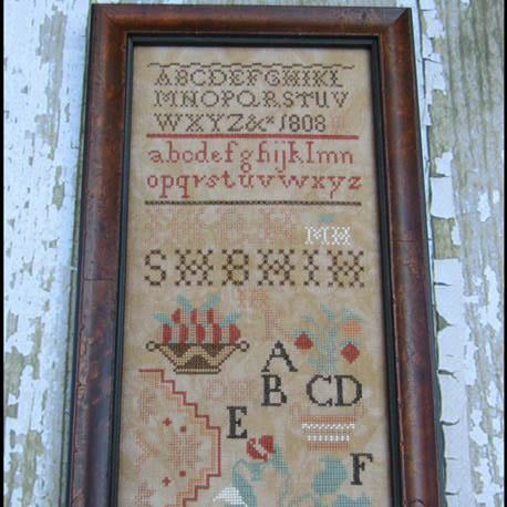 Mary Hawley 1808 Reproduction Sampler Cross Stitch Pattern