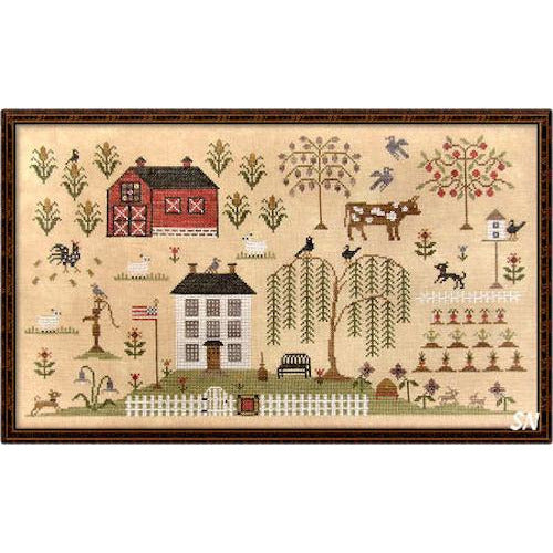 Heartland Sampler Cross Stitch Pattern