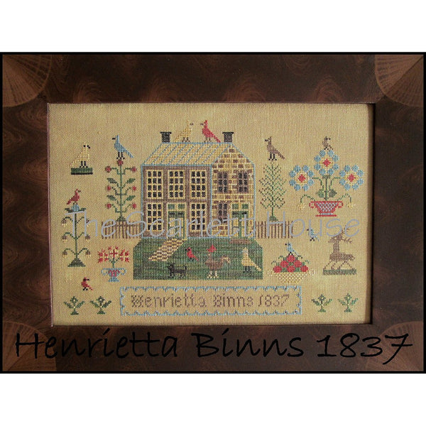 Henrietta Binns 1837 Sampler Cross Stitch Pattern