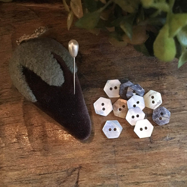 Mother of Pearl Mini-Hexagon Buttons