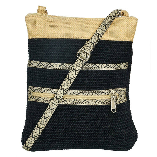 Project Bag - Black Jute Hipster