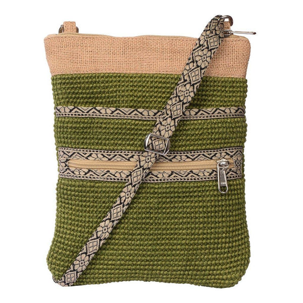 Project Bag - Olive Green Jute Hipster