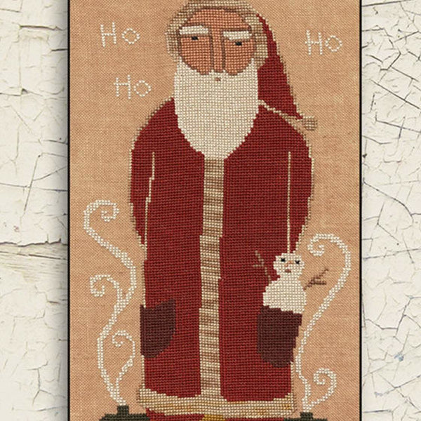 Ho Ho Ho Santa Cross Stitch Pattern