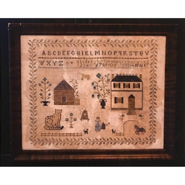 Spring at Hollyberry Farm Sampler Cross Stitch Pattern