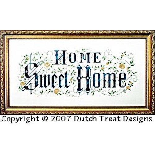 Home Sweet Home Victorian Motto Cross Stitch Pattern