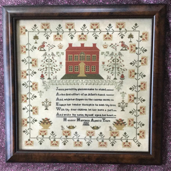Honnor Harrison 1835 Reproduction Sampler Cross Stitch Pattern