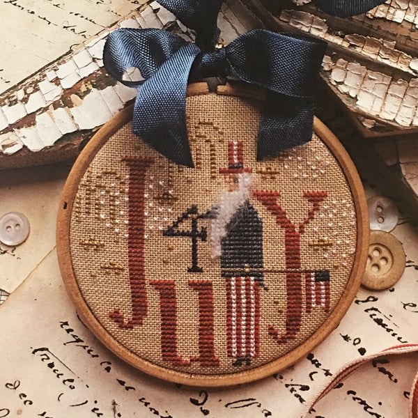 Holiday Hoopla 4th of July Cross Stitch Pattern