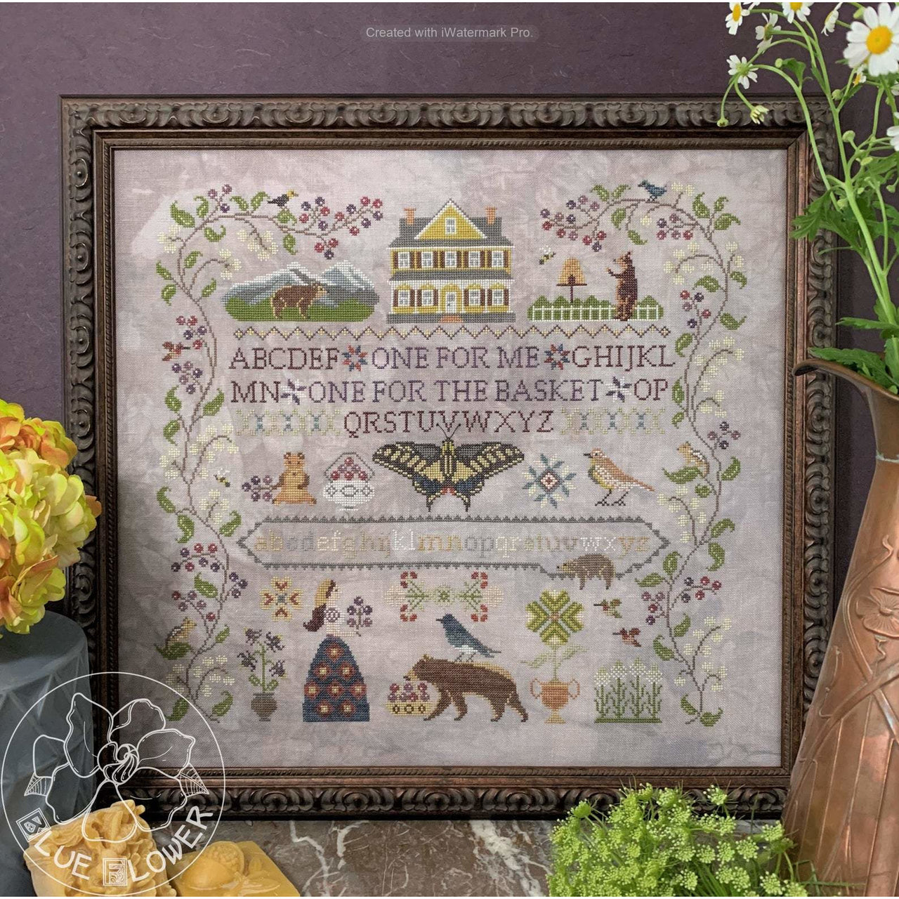 Huckleberry Farm Sampler Pattern
