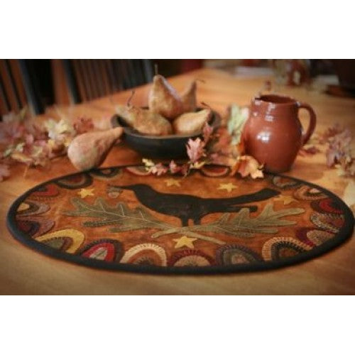 Redware Crow Tablemat Wool Applique Kit